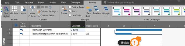 Ms Project Total Slack